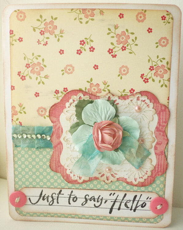 Just Say Hello Card