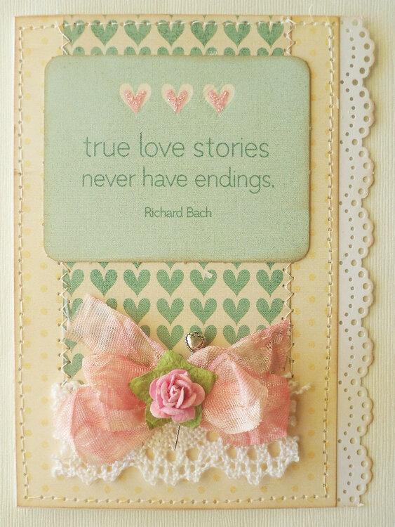 True Love Stories Love Valentines Card