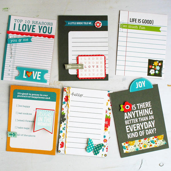 Dressed Up Journaling Cards - Pebbles