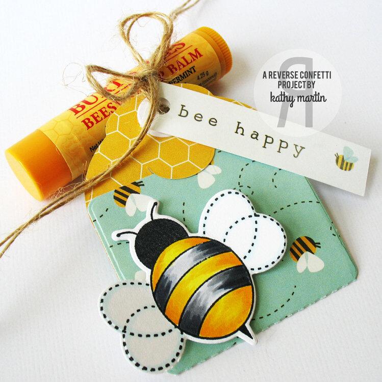 Bee Happy - Reverse Confetti