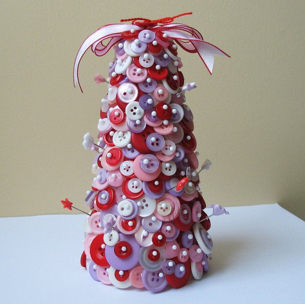 Valentine Button Tree