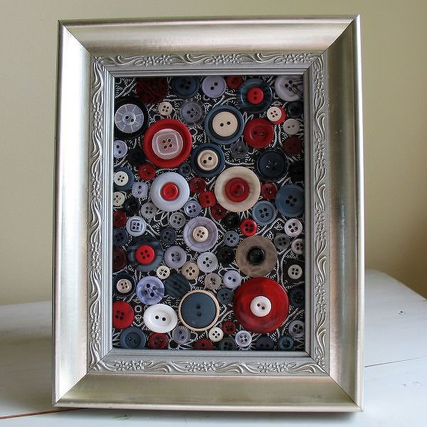 Framed Button Collage