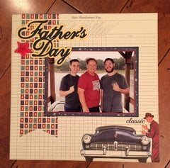 Authentique Dapper Father's Day layout