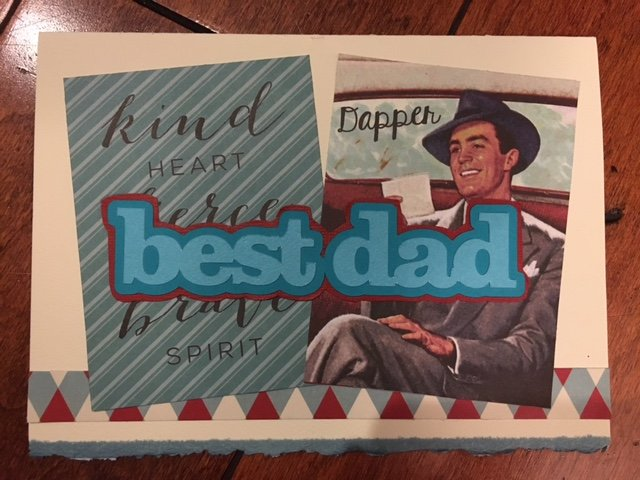 Authentique Dapper Father's Day card