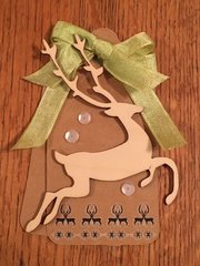 Kaisercraft Wooden Deer Tag