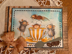 Fall House Mouse Coffee Crazy Card