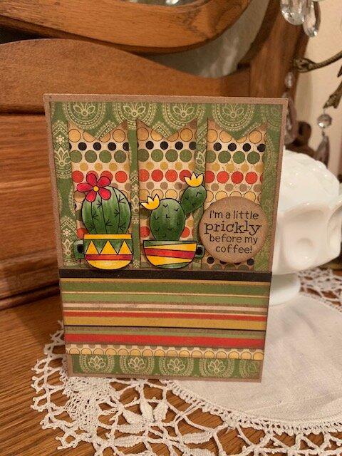 Newton's Nook Cuppa Cactus colorful card