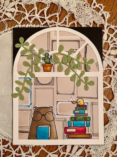 Waffle Flower Books & Coffee Gallery Card