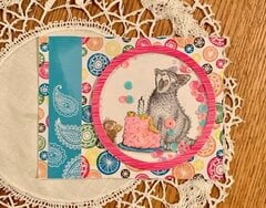 Stampendous House Mouse Birthday Kitty Shaker card