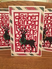 Sizzix Reindeer Cards