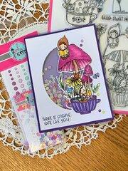 Pink & Main Gnome Matter What Shaker Card