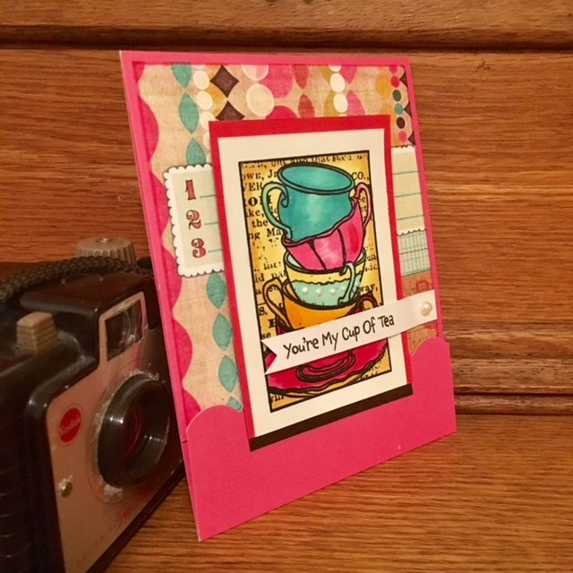 Stamplorations Tea Cups Card