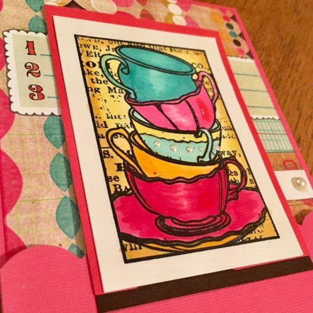 Stamplorations Tea Cups Card