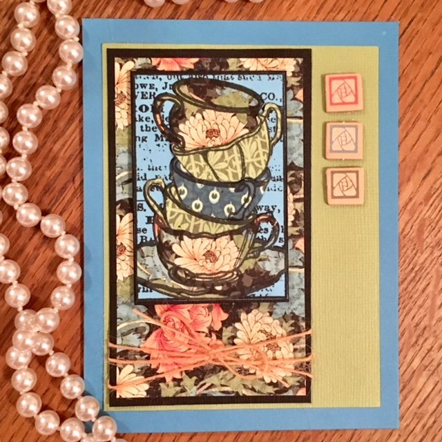 Stamplorations Framed Tea Cups