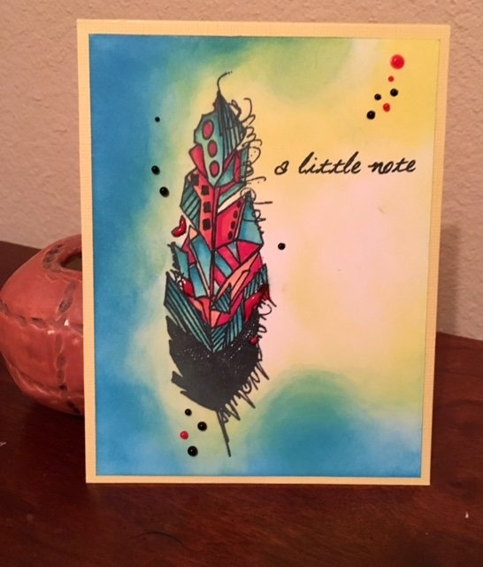 Aall & Create #11 Feather image card