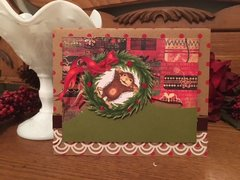 Christmas House Mouse Slider Card