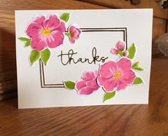 Altenew Clematis Flower card