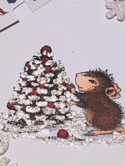 House Mouse Berry Christmas Card
