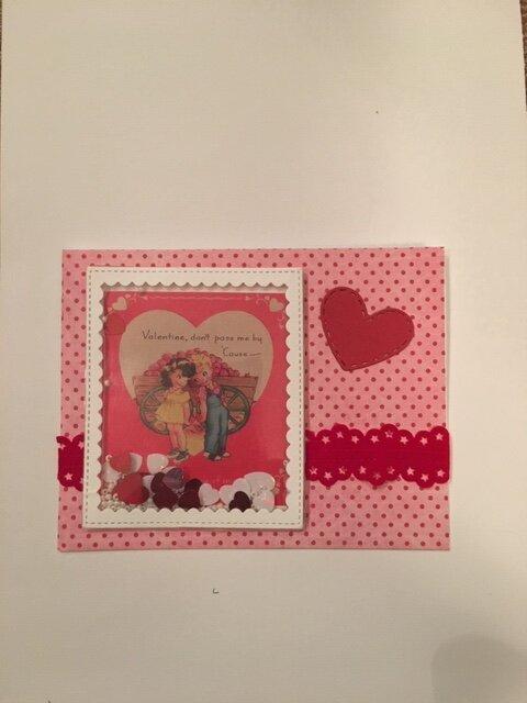 Vintage Valentine Shaker Cards