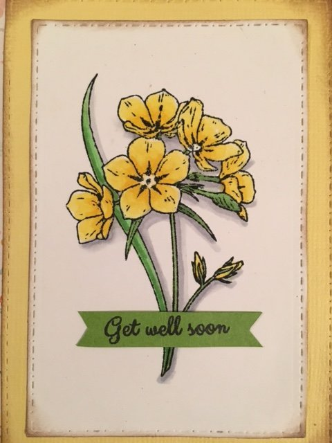 Get Well Floral Card