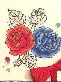 Patriotic Kennedy Grace Splendid Roses