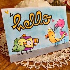 Paper Smooches Baby Birds say Hello
