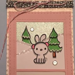 Pretty Pink Posh banner card