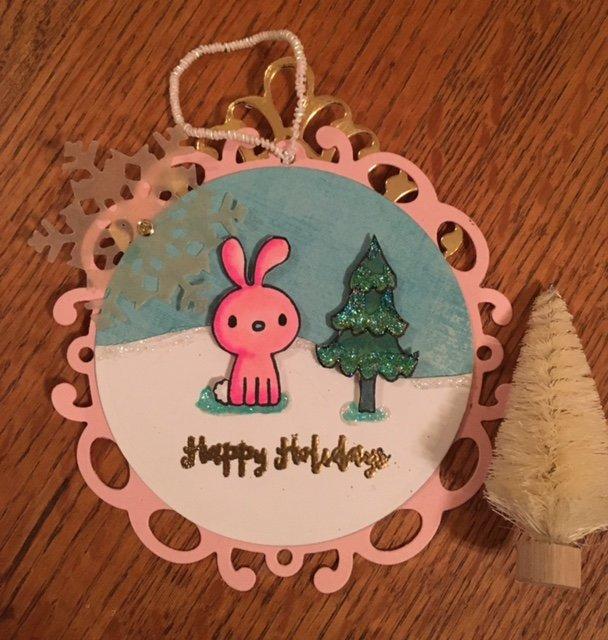 Pretty Pink Posh Holiday tag