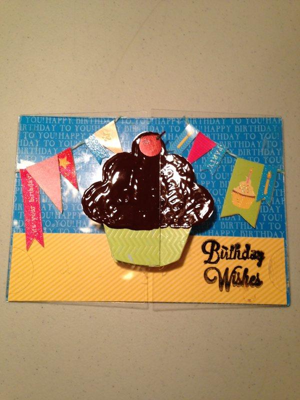 Clear Scraps Send It Clear Card Birthday Cupcake