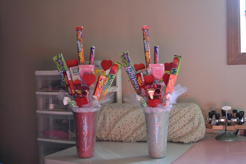 valentines candy boquets for my kids