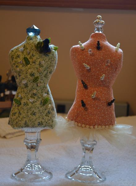 dress form pincushions