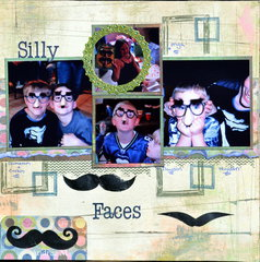 Silly faces.