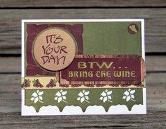 BTW card
