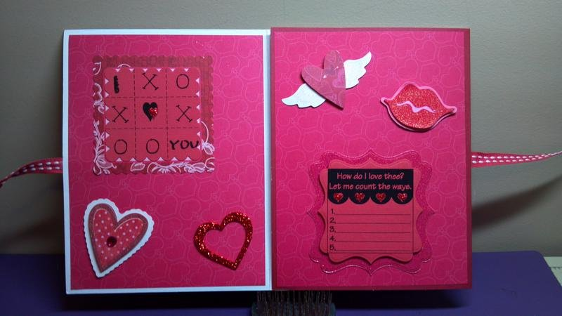 The Cutting Cafe Design Team Project 1/9/13 Valentine's Day Tri-Fold Card