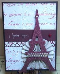Paris Themed Valentine's Day Card
