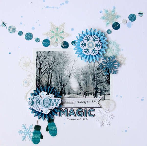 SNOW MAGIC **Glue Arts**