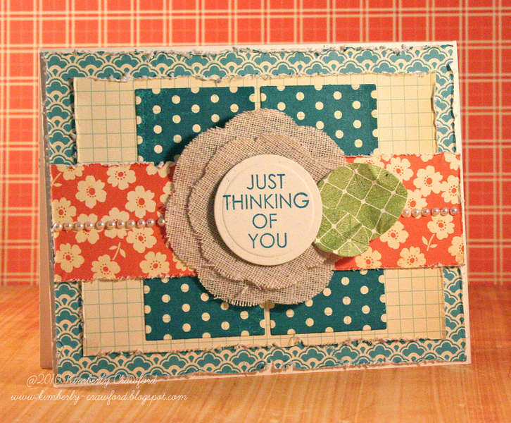 just thinking of you *Mint Motif*