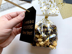 Here's To A Popping New Year - Treat bag and tags