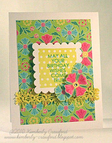 may all your birthday wishes come true *Mint Motif*