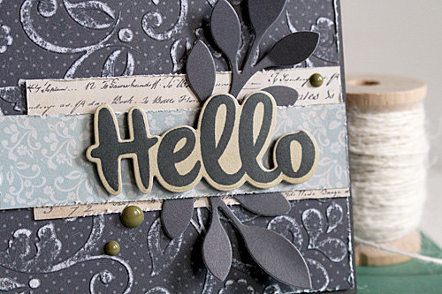 Hello, embossing with a stencil