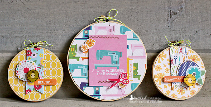 Sew Sweet Sunshine Soup Embroidery Hoops