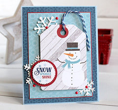 snow, sparkle, and shine card