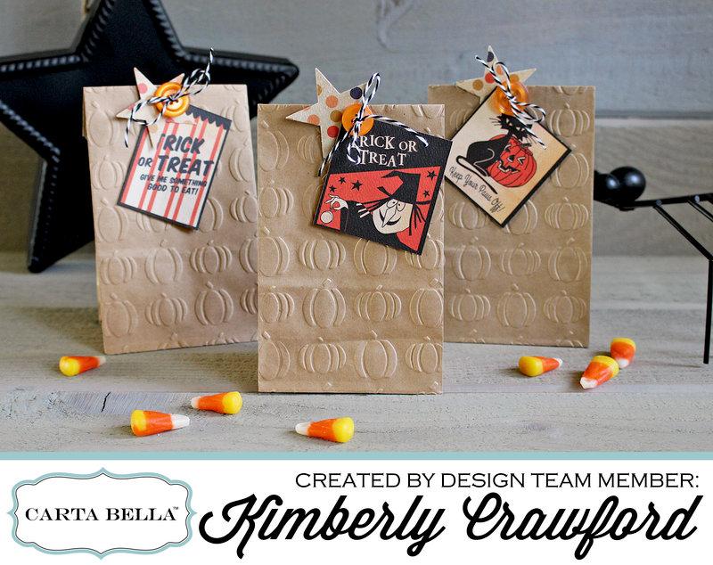 embossed Halloween treat bags