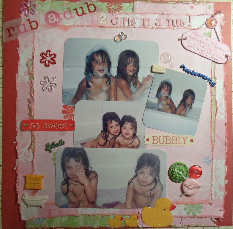 rub a dub..2 Girls in a Tub!