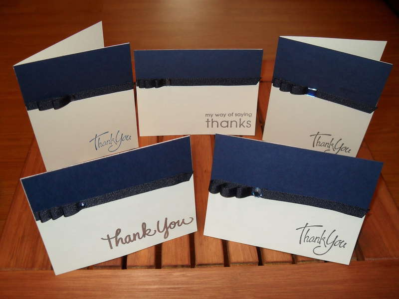 Masculine Thank You Cards