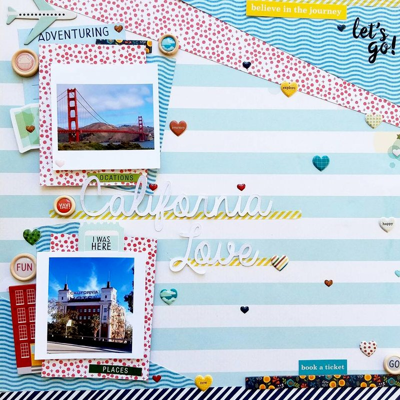 California Love {Paper Issues Scraplift}