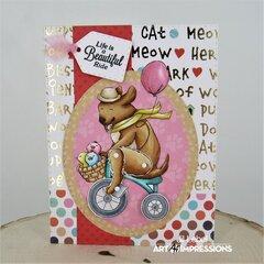 Dog Wheelie Card