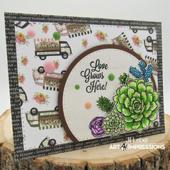 Love Lives Here Succulents Card