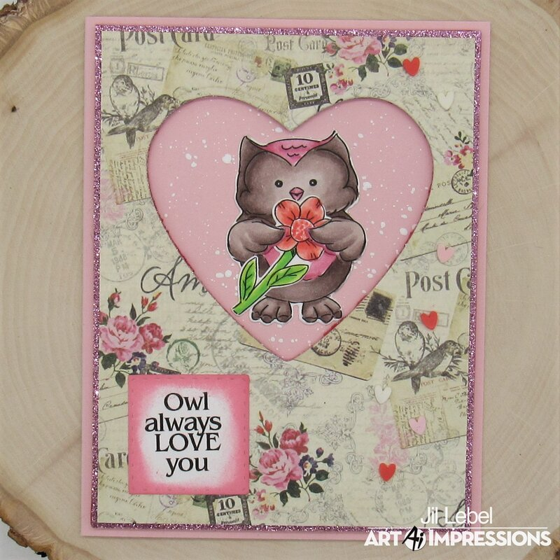 Lovable Animals Owl Card