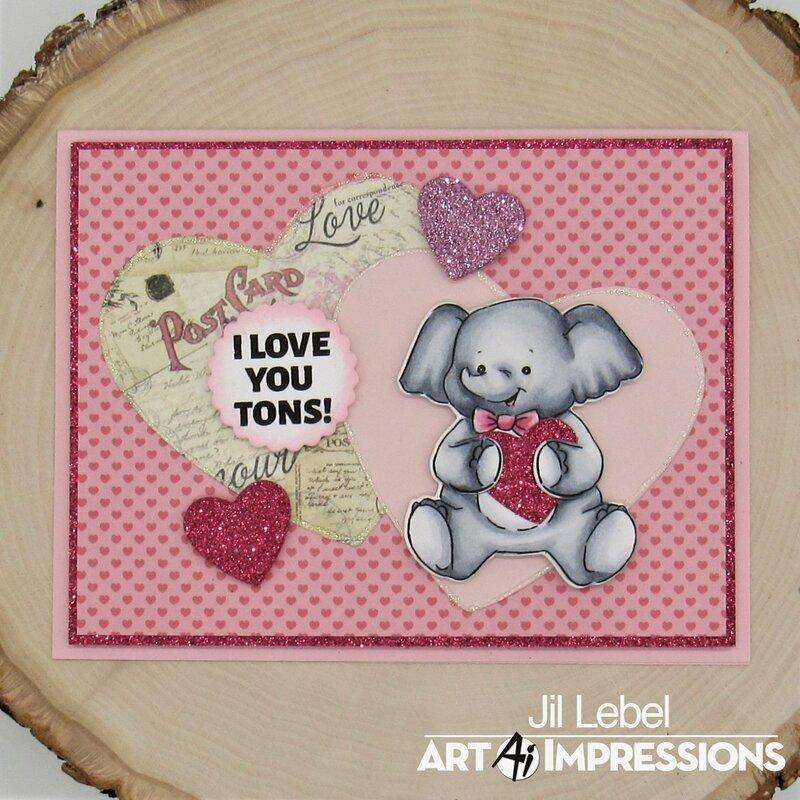 Lovable Animals Elephant Card